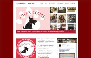 Zeldas Corner web design Jagmedia culver city and venice