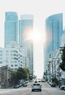 tall office buildings serving downtown losangeles