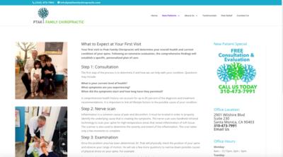 Ptak Chiropractic -1stvisit-Wordpress Website by JAGmedia