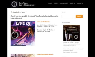 Restaurant Website Design JAGmedia, Santa Monica