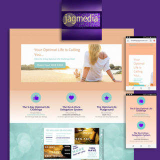 Life Coaching Landing Page Design by Jagmedia