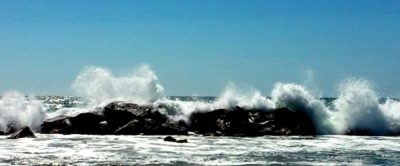 Venice Breakwater Big Waves-Janet Gervers