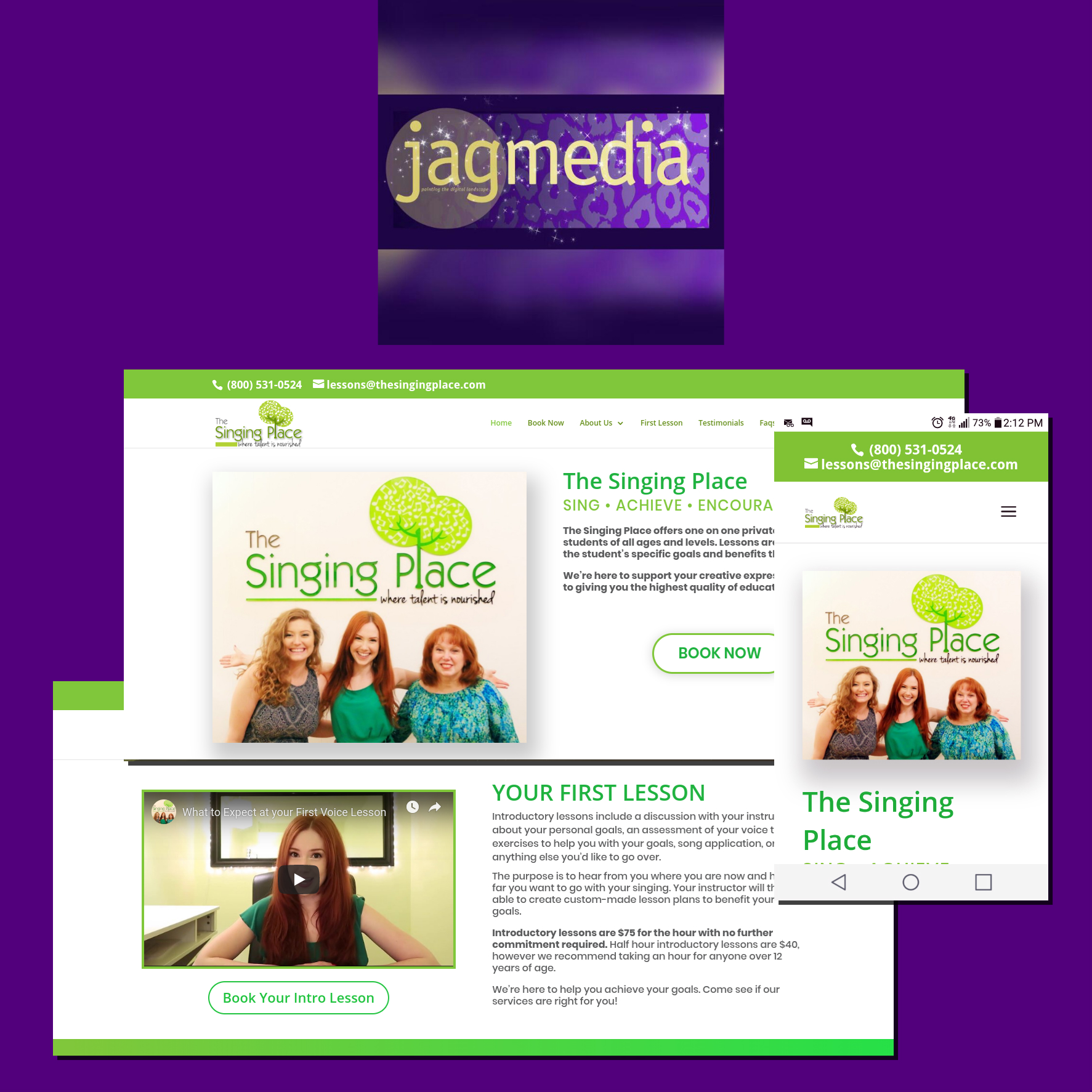 JAGmedia Singing Place Website