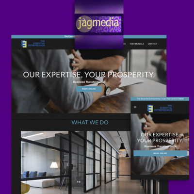 Business Coaching Website Designed by Jagmedia in Santa Monica