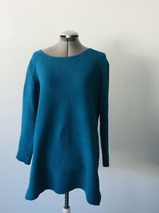 Women's Basic Editions Size L Cobalt Blue Pullover Sweater